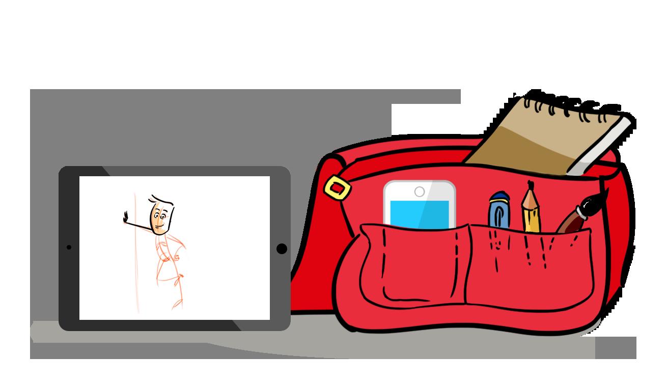 Dibujar, practicar y compartir dibujos es fácil con tu tableta, movil, lapices, rotuladores, cuadernos o block de dibujo, al aire libre o donde quieras.