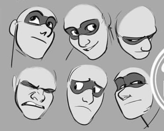 Como dibujar el zona de los ojos a través de la mascara, de GRIZandNORM