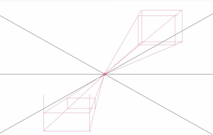 Aprender a dibujar la perspectiva con un punto de fuga.